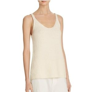 VINCE Womens Tank Top Sweater Cotton Textured - XS